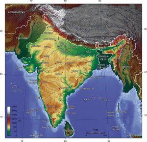 mapa subkontynentu indyjskiego
