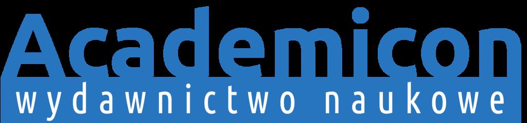 logo wydawnictwo academicon niebieskie