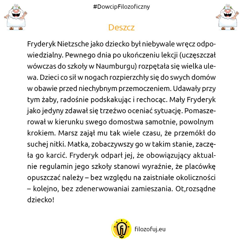 Fryderyk Nietzsche anegdota